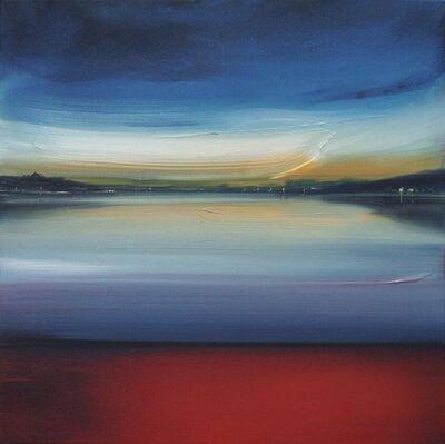 Sigrid Nienstedt, 'See mit rotem Ufer', 2019