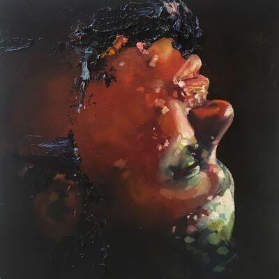 David Antonio Cruz, 'Goldenpuma,saltyandmagical, portrait Daniel in black', 2016