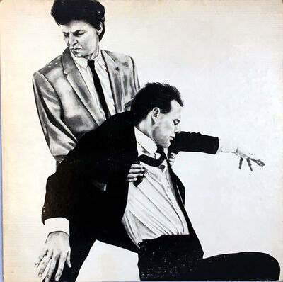 Robert Longo, 'Rare Original Robert Longo Vinyl Record Art (Men In The Cities)', 1981