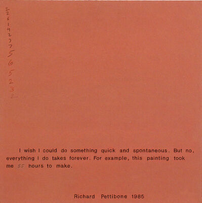 Richard Pettibone, 'I Wish I Could Do Something Quick and Spontaneous', 1985