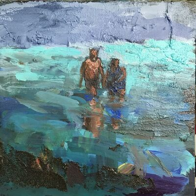 Grant Drumheller, 'Couple in Surf', 2018