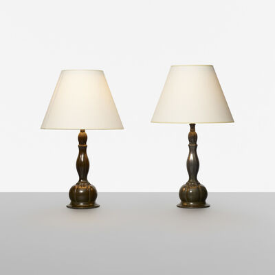 Just Andersen, 'table lamps, set of two', c. 1940