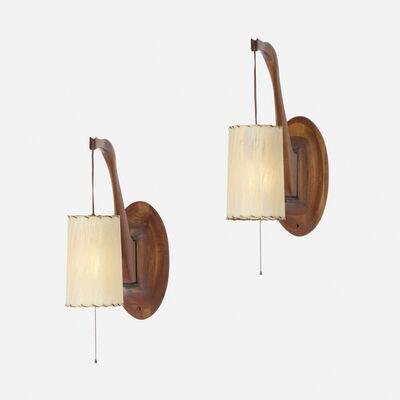 Paul Evans (1931-1987), 'adjustable wall lamps, pair', c. 1960