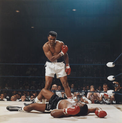 Neil Leifer, 'Muhammad Ali reacts after his first round knockout of Sonny Liston during the 1965 World Heavyweight Title fight', 1965