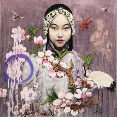Hung Liu 刘虹, 'Flower Girl II', 2021