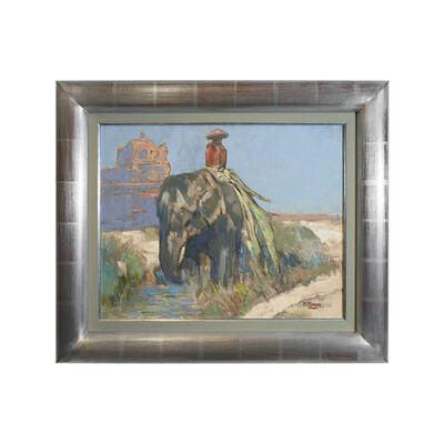 Paul Jouve, 'Eléphant à hué, Annam', 1923