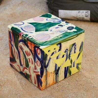 Reinaldo Sanguino, 'Ceramic Square Side Table 1', 2017