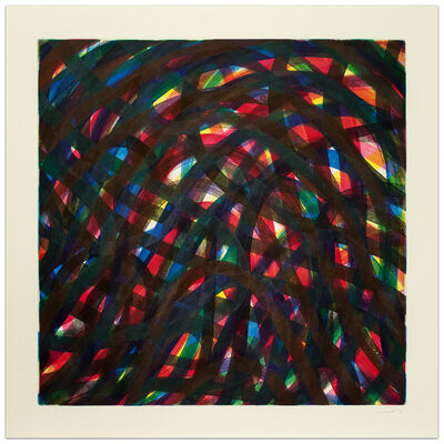 Sol LeWitt, 'Wavy Lines in All Directions, #3', 1996