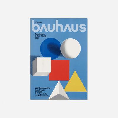 Herbert Bayer, 'Bauhaus poster', 1968