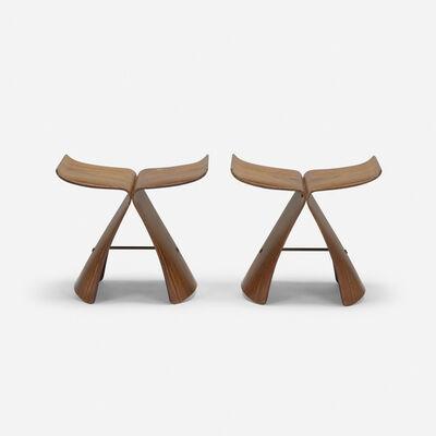 Sori Yanagi, 'Butterfly stools, pair', c. 1954