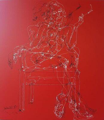 Virut Panchabuse, 'Woman on red', 2019