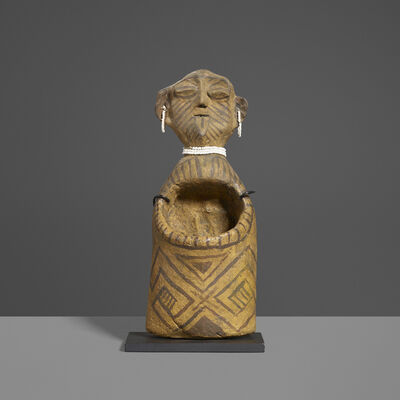 Unknown Yoruba, 'Figural Vessel', 20th Century