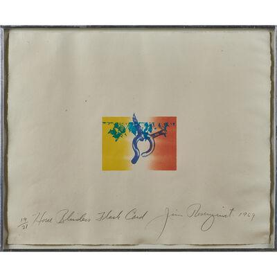 James Rosenquist, 'Horse Blinders Flash Card', 1969