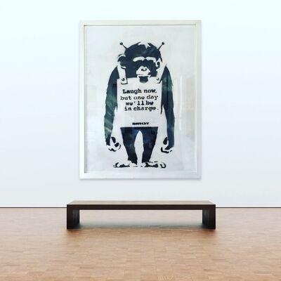"Banksy, '""Laugh Now.....""', 2001"