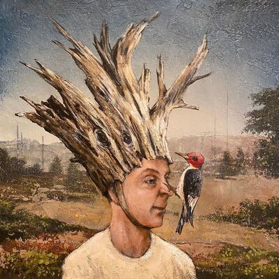 Tyson Grumm, 'Adoration of a Woodpecker', 2020