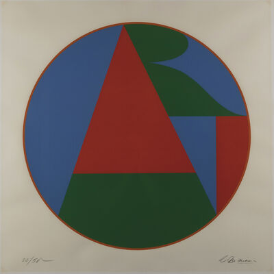Robert Indiana, 'Colby Art Tondo', 1973