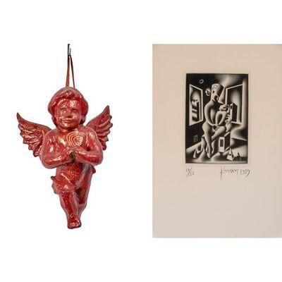 Mark Kostabi, '(i) Untitled Cherub, (ii) Untitled'