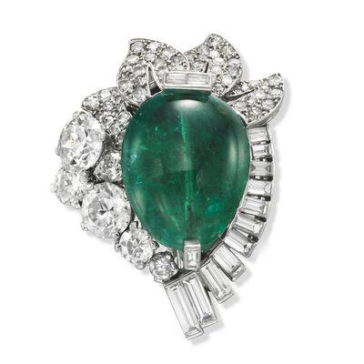 Cartier, 'Emerald and diamond brooch', ca. 1955