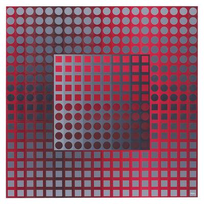 Victor Vasarely, 'KANTA ZETT RED/GREY', 1971