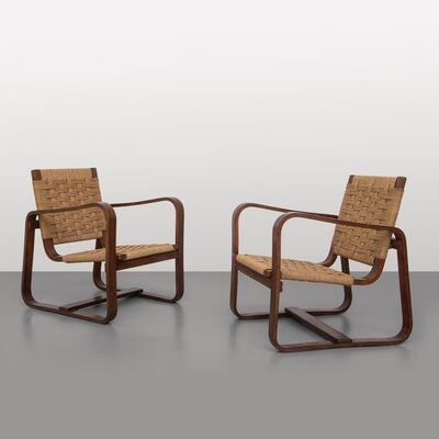 Giuseppe Pagano Pogatschnig, 'A pair of armchairs made for the Bocconi University Milan', 1942