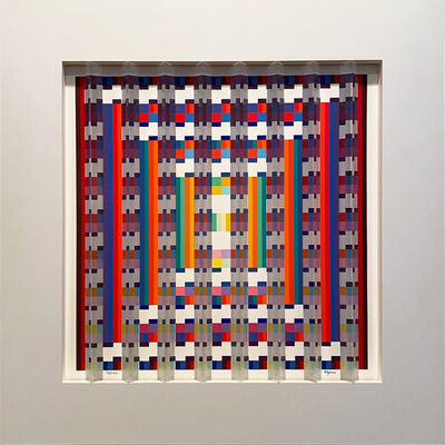 Yaacov Agam, ''Image Aquatic' Framed Prismagraph with Polymer Print Surface, Color Serigraph and Transparent Acrylic Prisms', 1990