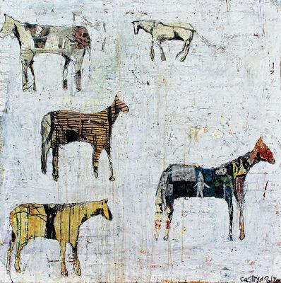 Casey McGlynn, 'Horses on White', ca. 2016