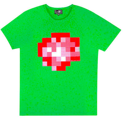 Invader, 'WIPE OUT (Green Extra Large T-shirt)', 2015