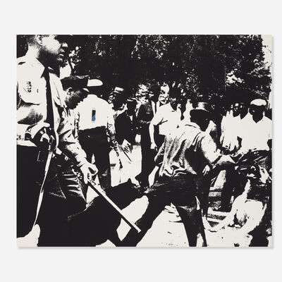 Andy Warhol, 'Birmingham Race Riot from the X + X (Ten Works by Ten Painters) portfolio', 1964