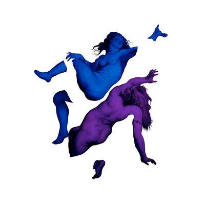 Magnus Gjoen, 'Happy Nations Have No History  Purple/Blue', 2018