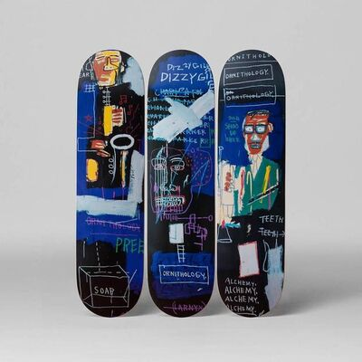 Jean-Michel Basquiat, 'Basquiat Horn Players Skateboard Decks (set of 3)', ca. 2017