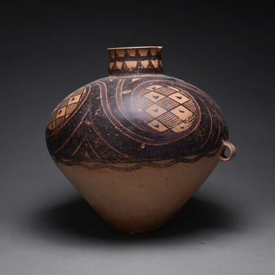 Neolithic China, 'Neolithic Yangshao Painted Terracotta Vessel', 3000 B.C. to 1500 B.C.