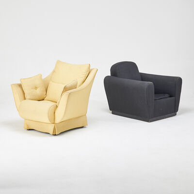 James Mont, 'Two club chairs', 1960s