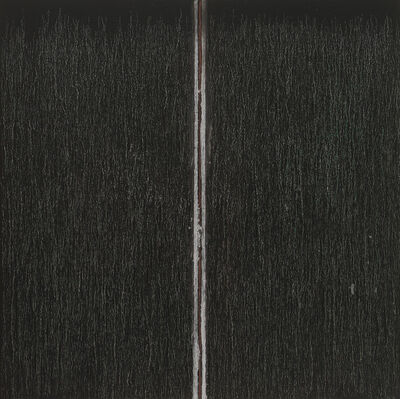 Pat Steir, 'Black with Red in the Middle', 2019