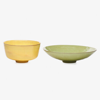 Gertrud Natzler, 'Celadon and yellow bowls, Los Angeles, CA', 1958