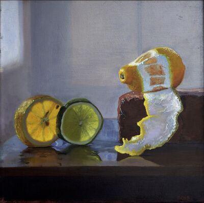 Scott Kiche, 'Lemon and Lime Slice on Brick', 2019