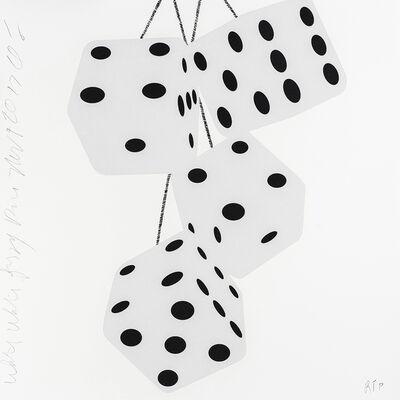 Donald Sultan, 'Fuzzy Dice (White White Fuzzy Dice)', 2017
