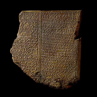'The Flood Tablet, relating part of the Epic of Gilgamesh', 7th century B.C.