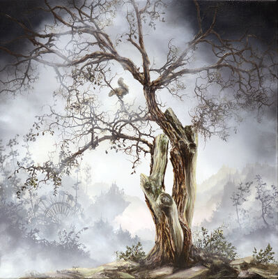 Brian Mashburn, 'Old Tree with  Squirrel', 2019