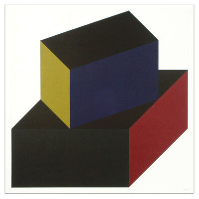 Sol LeWitt, 'Forms Derived from a Cube (Colors Superimposed), Plate #06', 1991