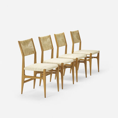 Gio Ponti, 'dining chairs model 116, set of four', c. 1950