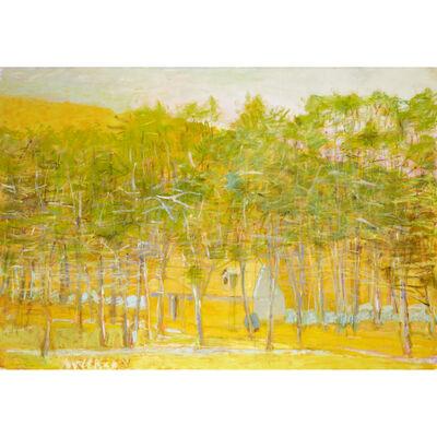 Wolf Kahn, 'Yellow Barn Half Hidden', 2011
