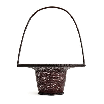 "Tanabe Chikuunsai II, 'Openwork Pattern Turtle Shell Plaiting Flower Basket ""Hana""  16 194', 1910-2000"