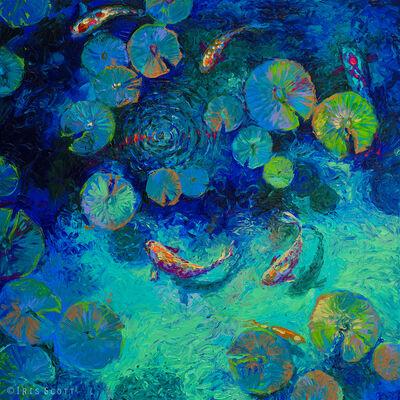 Iris Scott, 'Taiwanese Blue (Embellished Artist's Proof)', 2018