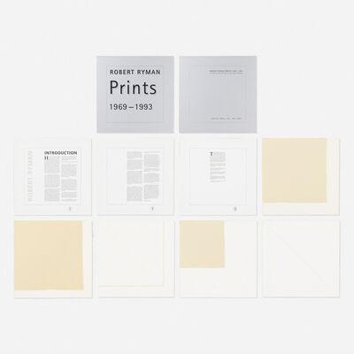 Robert Ryman, 'Prints 1969-1993 (the Catalogue Raisonne by Amy Baker Sandback)', 1993