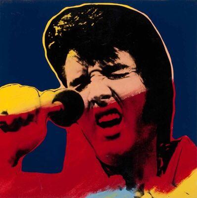 Steve Kaufman, 'Elvis II (Blue)'