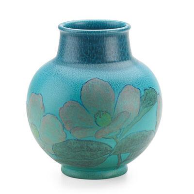 Kataro Shirayamadani, 'Double Vellum Vase With Stylized Roses (Uncrazed), Cincinnati, OH', 1933
