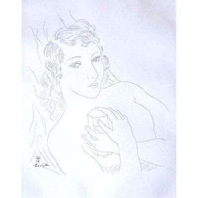 "Léonard Tsugouharu Foujita, 'Original Etching ""Portrait of Isabey"" by Léonard Foujita', 1928"