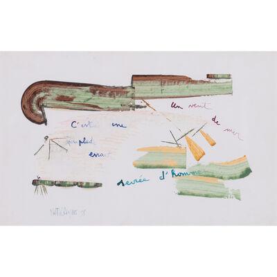Martial Raysse, 'C'est une peuplade errante servée d'hommes, un vent de mer', 1958