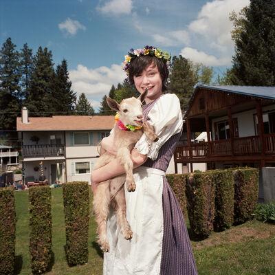 Naomi Harris, 'Girl with Goat, Maifest, Leavenworth, Washington', 2014