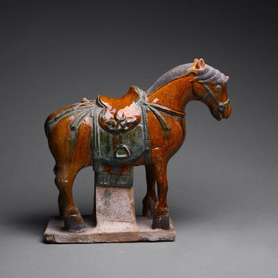 Ming Dynasty, 'Ming Dynasty Glazed Horse', 1369 AD to 1644 AD